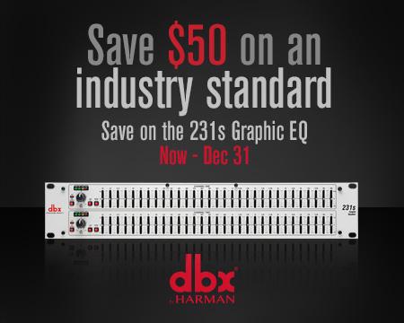dbx 231s $50 Instant Rebate Promo