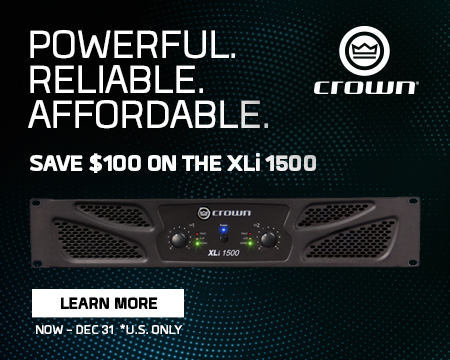 Save $100 on the Crown XLi 1500 (U.S. Only)