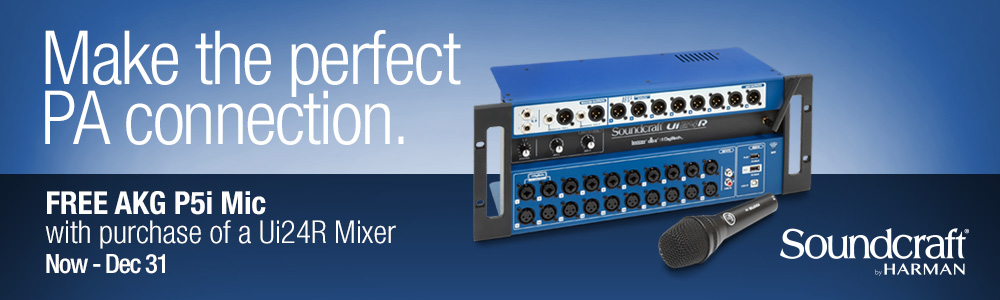 Ui24R Mixer + Free AKG P5i Mic