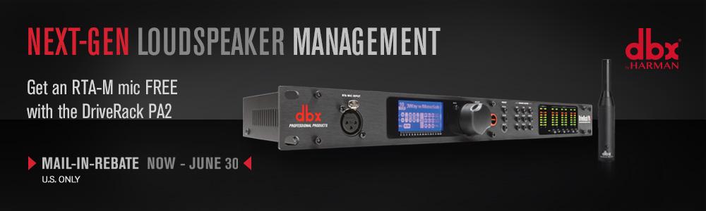 DriveRack PA2 - Free RTA-M Mic Rebate Offer 2018 (U.S. Only)