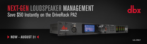 DriveRack PA2 Instant Rebate - July 2018 (U.S. Only)