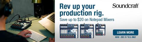 Save Big on Soundcraft Notepad Mixers!