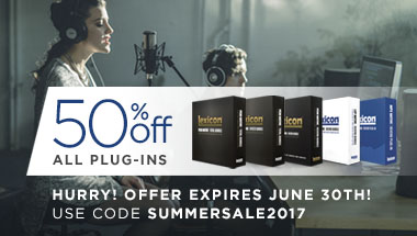 Lexicon Summer 2017 Plug-in Sale